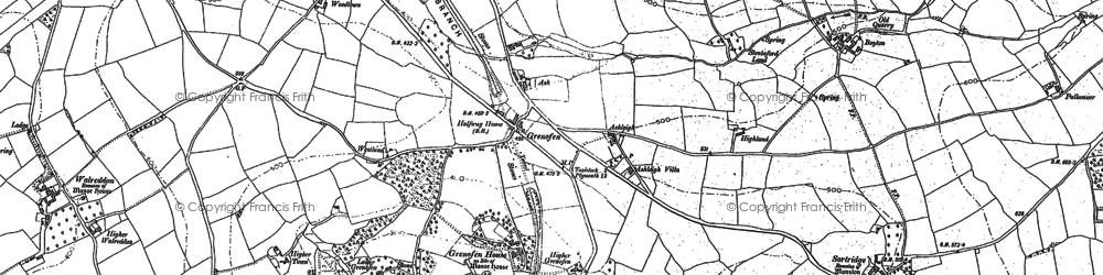 Old map of Woodtown in 1883