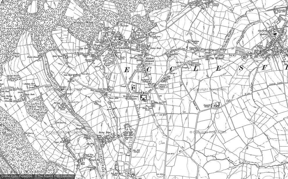 Old Map of Grenoside, 1890 - 1891 in 1890