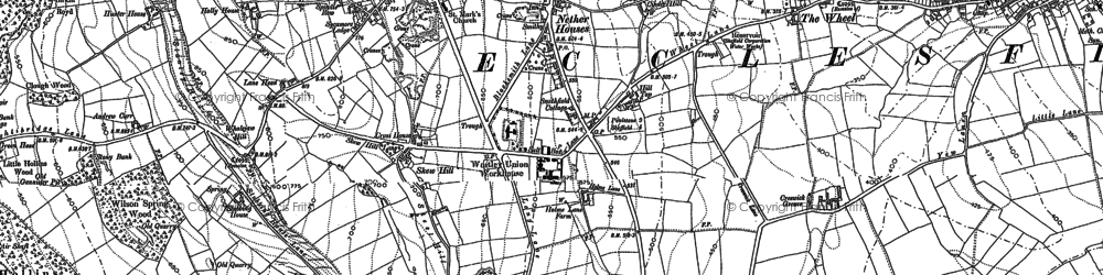 Old map of Grenoside in 1890