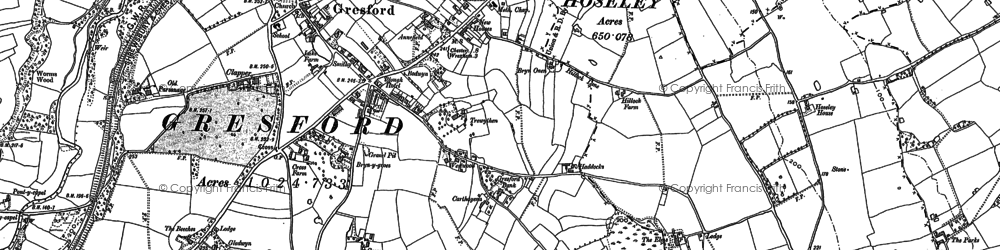 Old map of Gresford in 1898