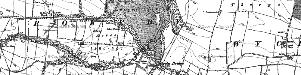 Old map of West Thorpe in 1854