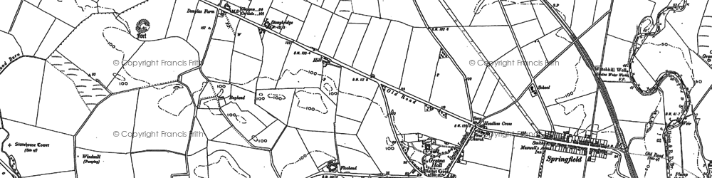 Old map of Alderman's Seat in 1900