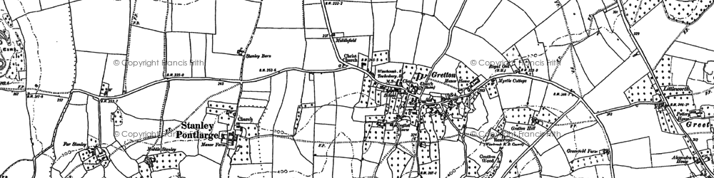 Old map of Langley Hill in 1883