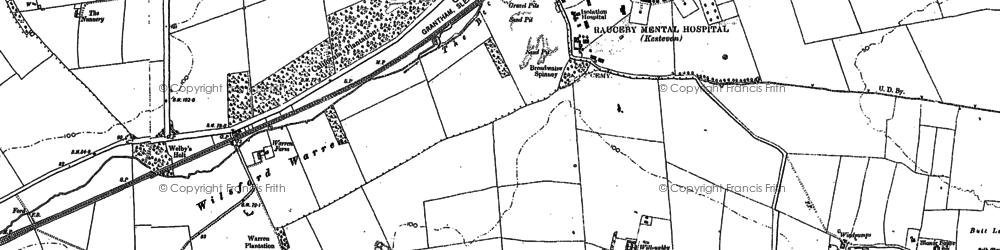 Old map of Wilsford Warren in 1887