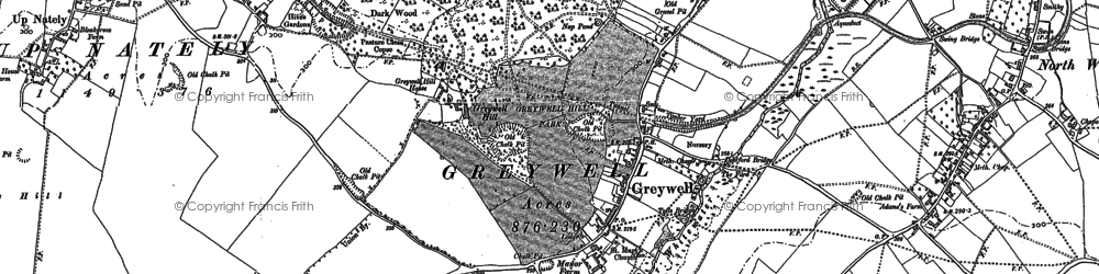 Old map of Greywell in 1894