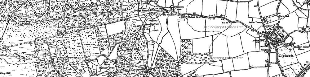 Old map of Wheatsheaf Common in 1908