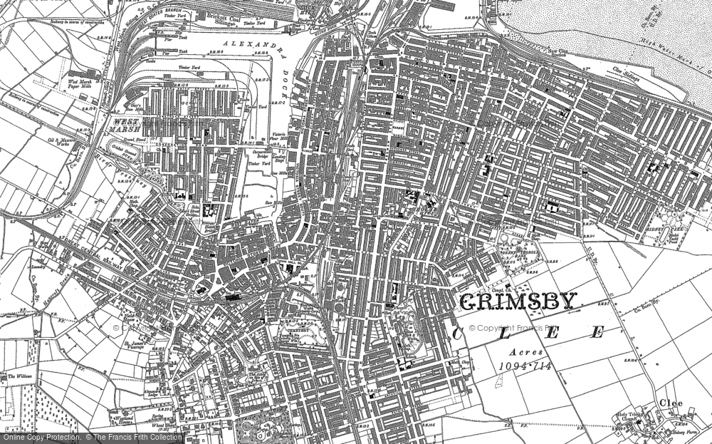 Old Map of Historic Map covering East Marsh in 1887