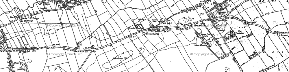 Old map of Langwith Lodge in 1890