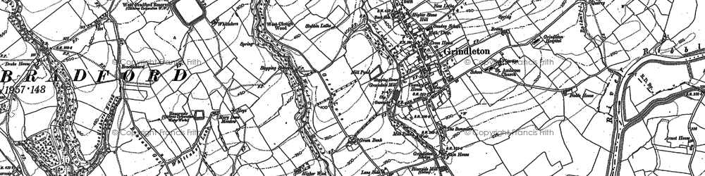 Old map of Asker Hill in 1907
