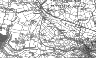 Old Map of Grindley Brook, 1909