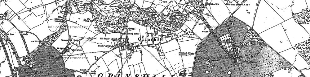 Old map of Woodstile in 1880