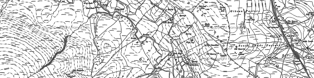 Old map of White Birks Common in 1907