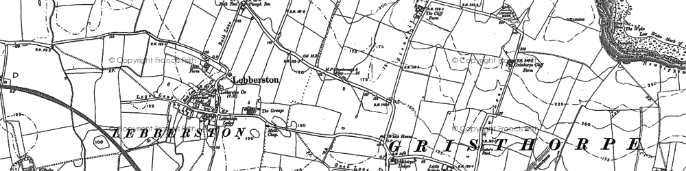 Old map of Gristhorpe in 1889