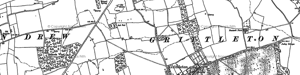 Old map of Grittleton in 1919