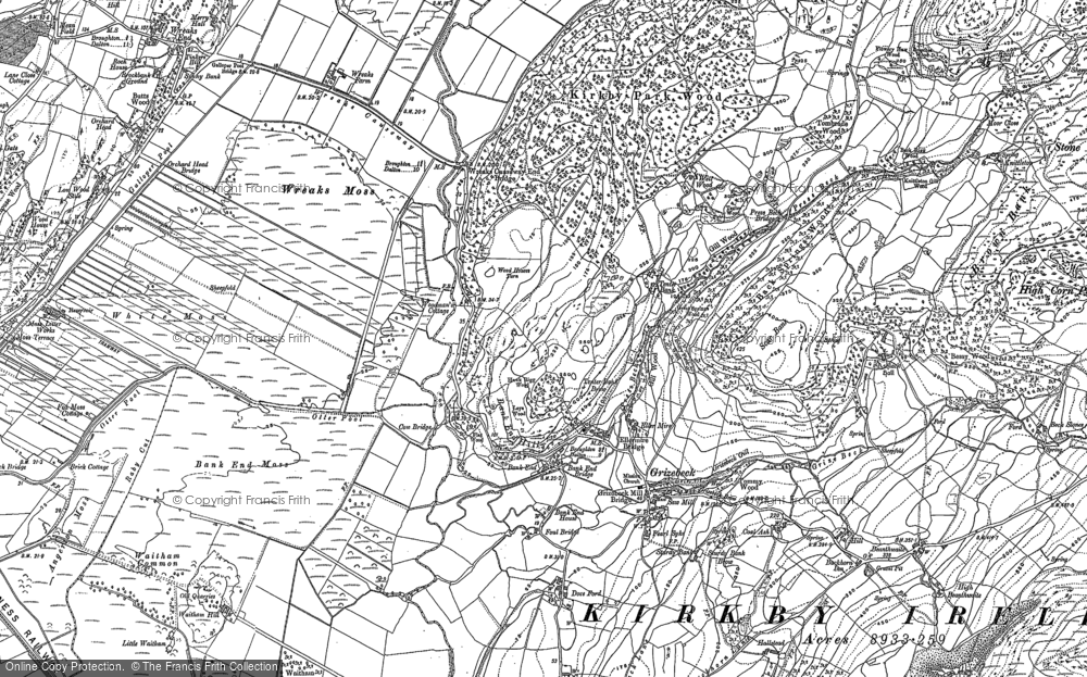 Old Map of Historic Map covering Bank End in 1911