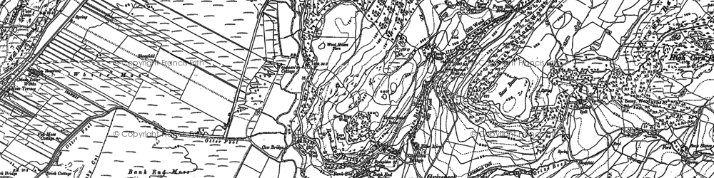 Old map of Ashlack Hall in 1911