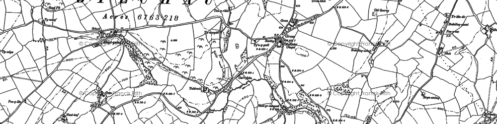 Old map of Fron in 1898