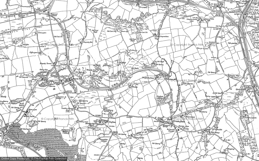 Old Map of Groes-faen, 1897 - 1898 in 1897