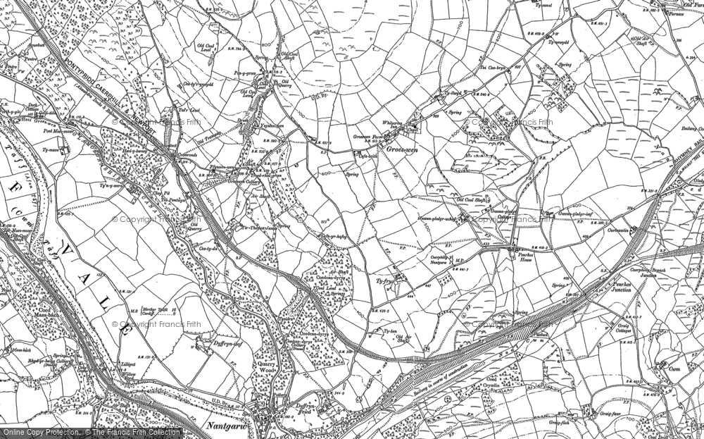 Old Map of Groes-wen, 1898 - 1915 in 1898