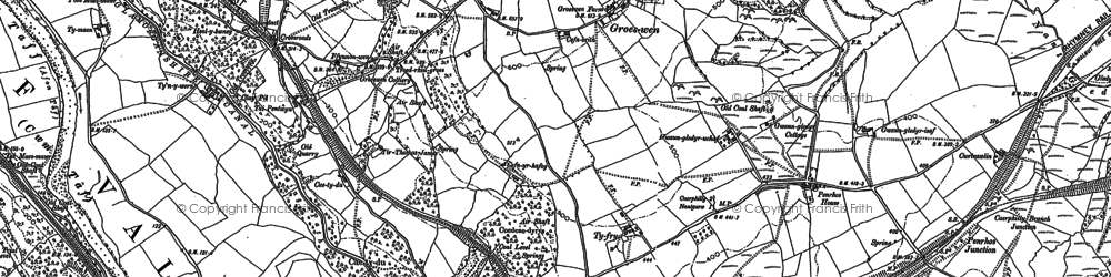 Old map of Groeswen in 1898