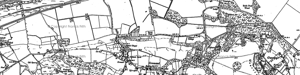 Old map of Gronant in 1910