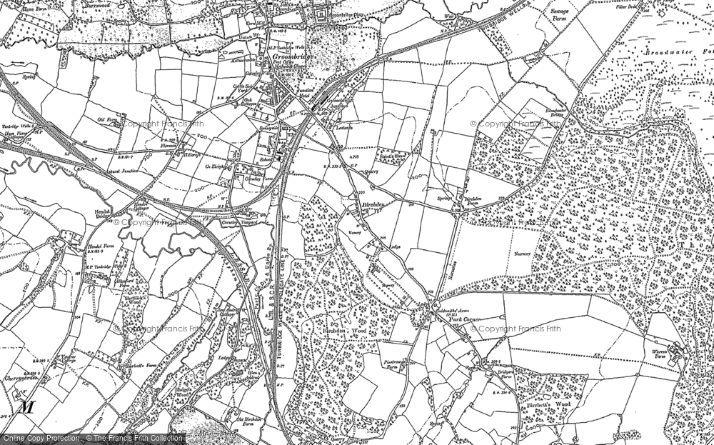 Old Map of Historic Map covering Leyswood in 1908