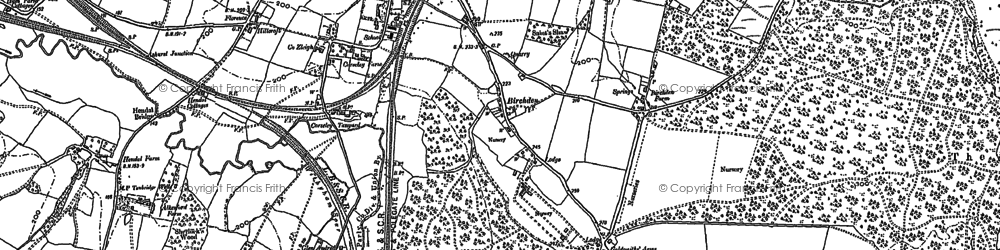 Old map of Lealands in 1908