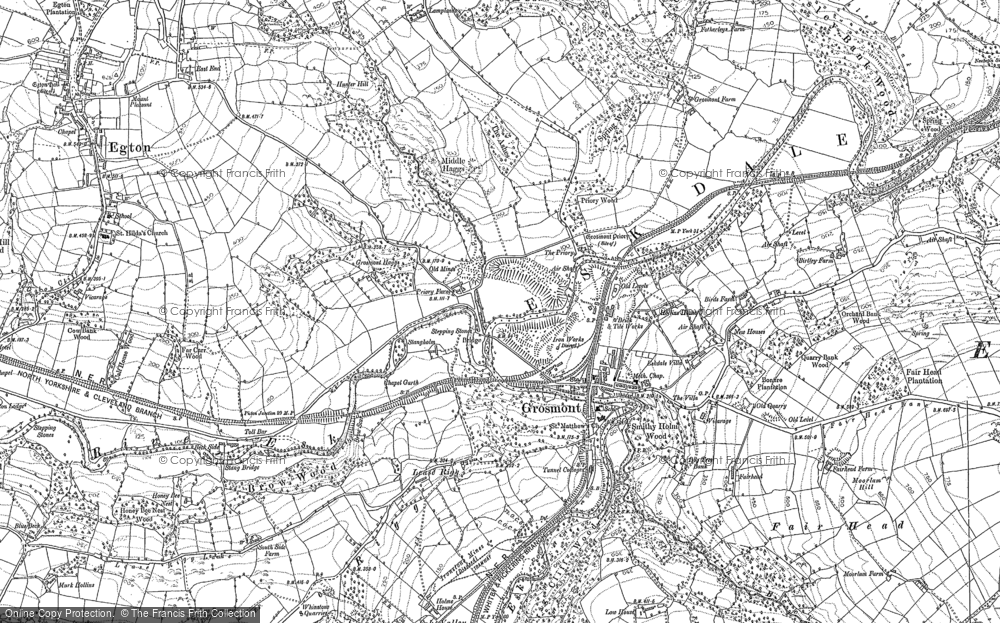 Old Map of Grosmont, 1892 in 1892