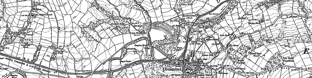 Old map of Grosmont in 1892