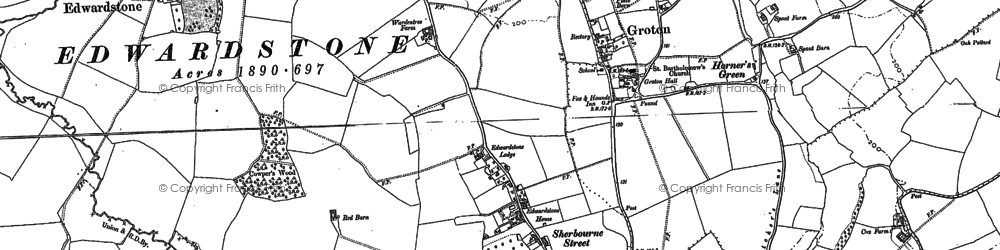 Old map of William's Green in 1885