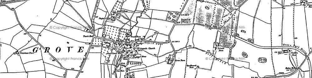Old map of Grove in 1876
