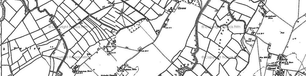 Old map of Grove in 1896