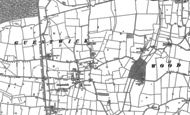 Old Map of Guestwick, 1885