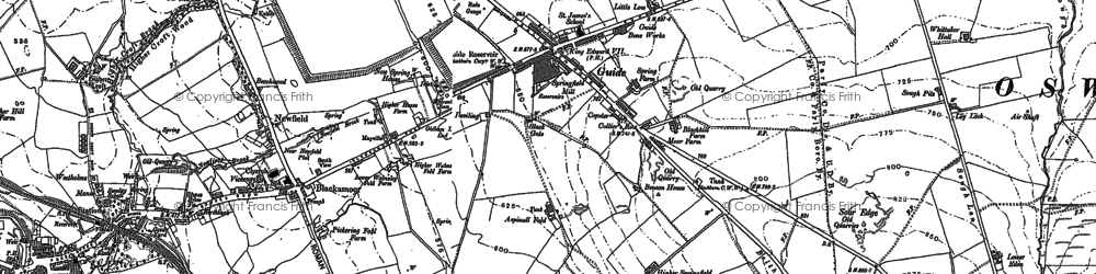 Old map of Whinny Heights in 1891