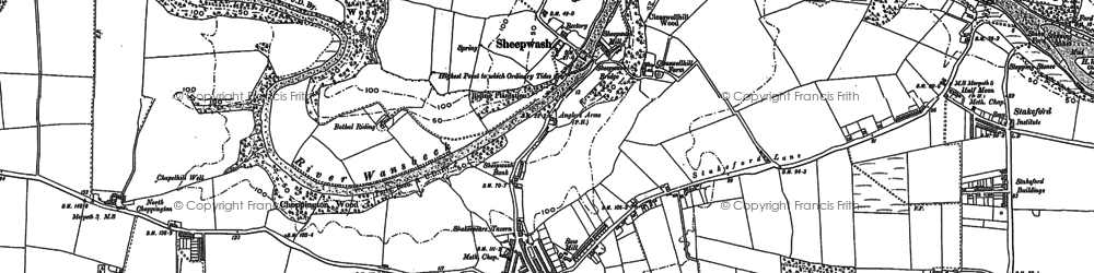 Old map of Guide Post in 1896