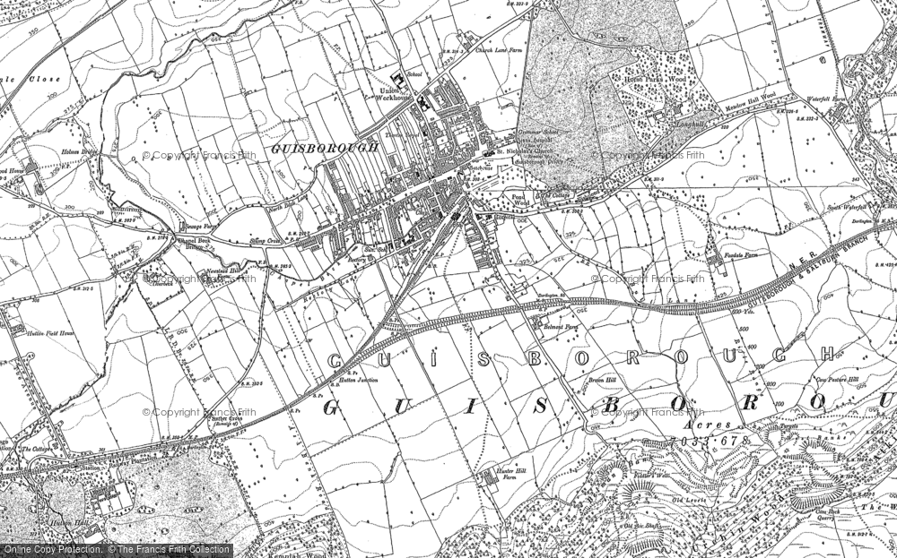 Old Map of Historic Map covering Woodhouse in 1893