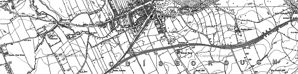 Old map of Hutton Gate in 1893