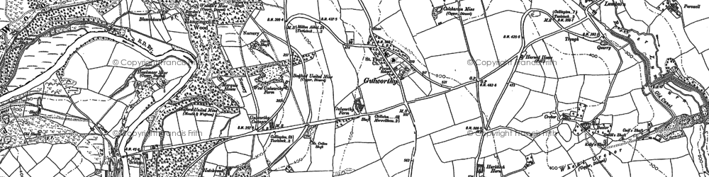 Old map of Artiscombe in 1905