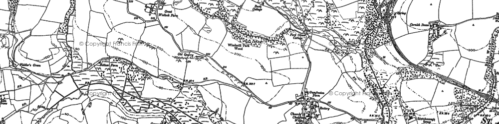 Old map of Astridge in 1887