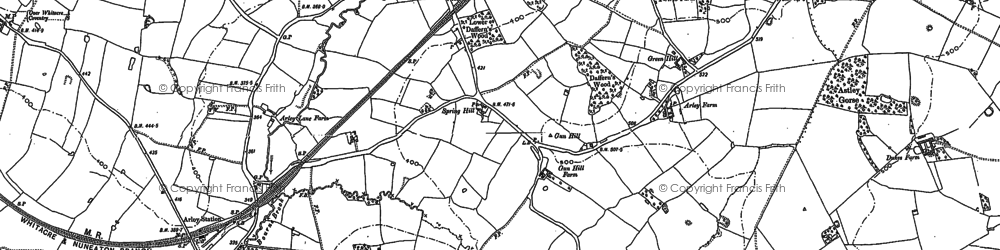 Old map of Tipper's Hill in 1887