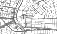 Old Map of Gunness, 1885 - 1906
