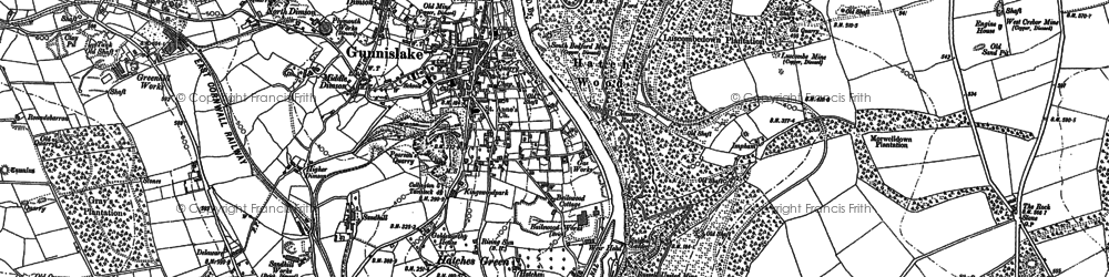 Old map of Gunnislake in 1905