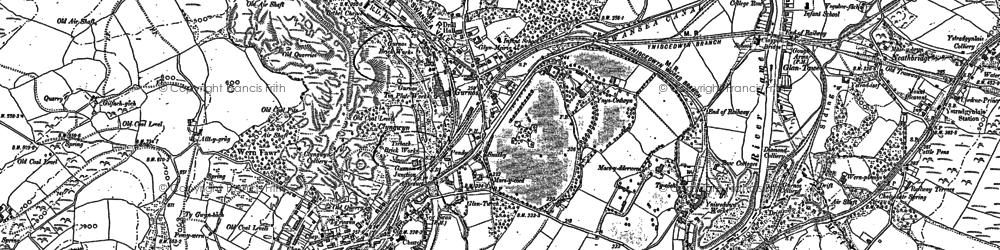 Old map of Ynys-Cedwyn in 1897