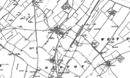 Old Map of Guston, 1906