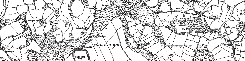 Old map of Barkers Hill in 1900