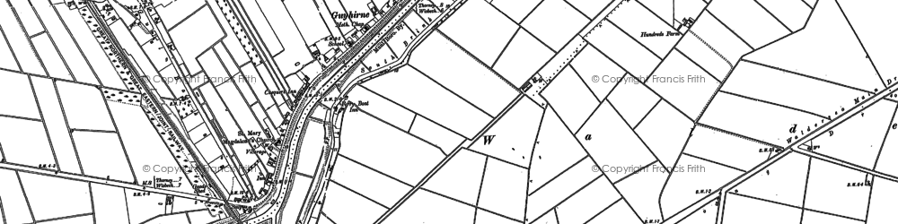 Old map of Wisbech High Fen in 1886