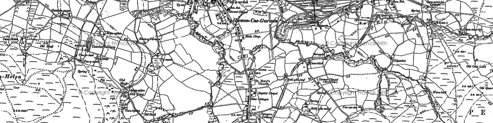 Old map of Baily Glas Uchaf in 1905