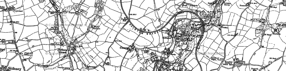Old map of Gwavas in 1906