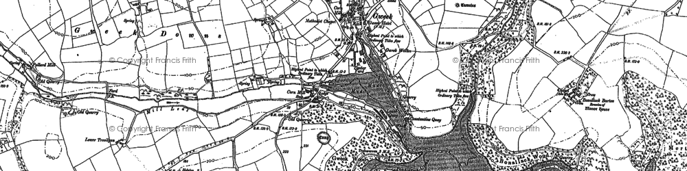 Old map of Mellangoose in 1906