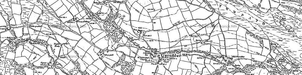 Old map of Wye Valley Walk in 1903